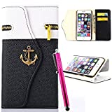 iPhone 4S Case, JCmax Folio Style PU Leather [Zipper Pocket Feature] Wallet Stand Case With [Card Slots][Magnetic][ Wrist Strap] For Apple iPhone 4S
