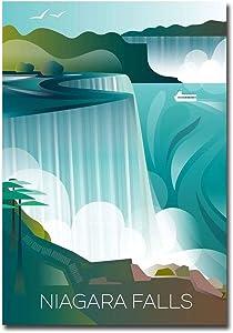 "Visit Niagara Falls Travel Vintage Art Refrigerator Magnet Size 2.5"" x 3.5"""