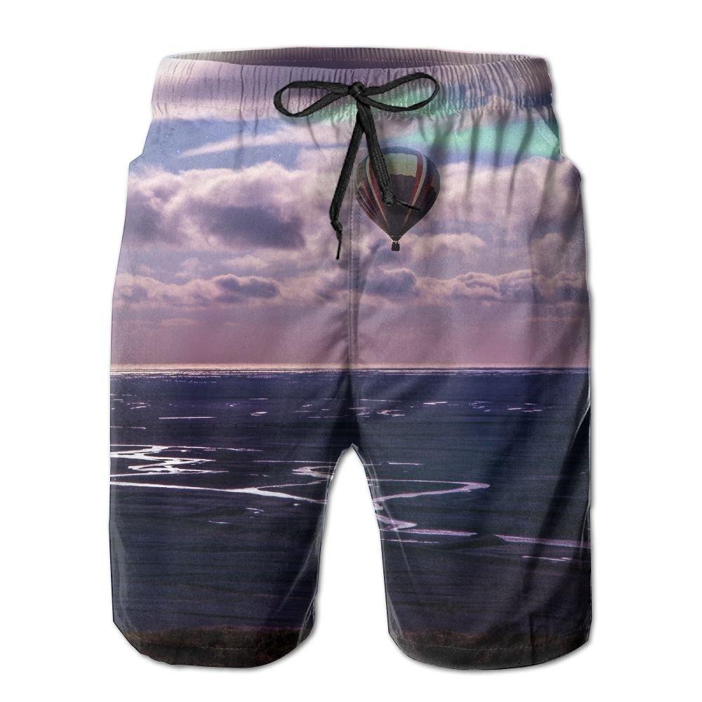 Seaside Balloon Cloud Galaxy Summer Swimming Trunks Beachwear Shorts