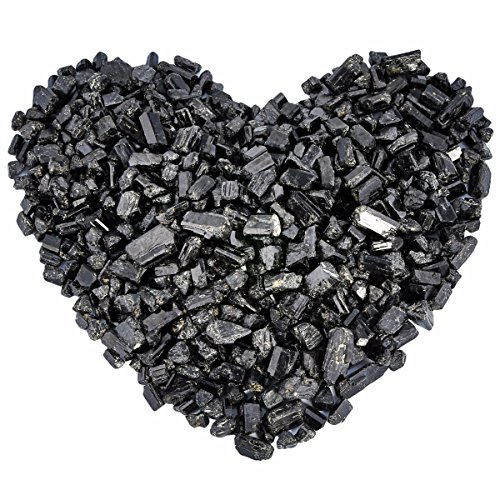 (rockcloud 1 lb Black Tourmaline Tumbled Chips Crushed Stone Healing Reiki Crystal Jewelry Making Home Decoration )