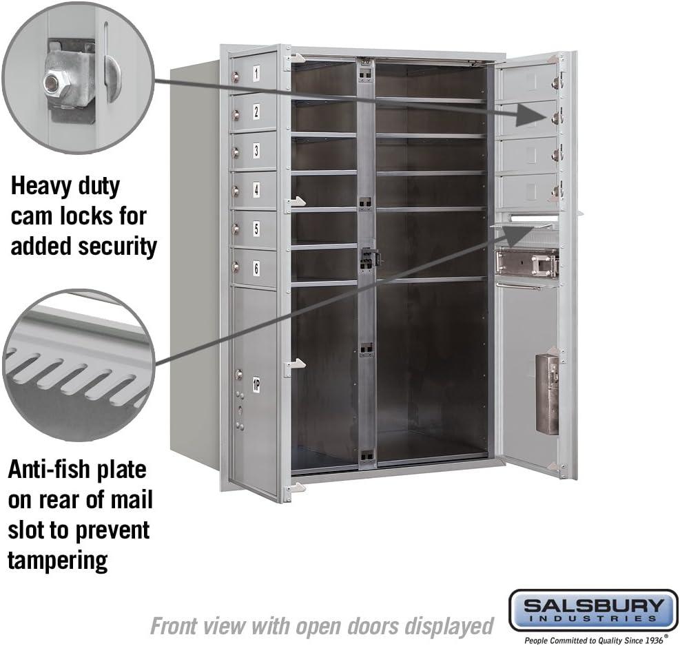 Salsbury Industries 3711D-10AFU 4C Horizontal Mailbox Aluminum
