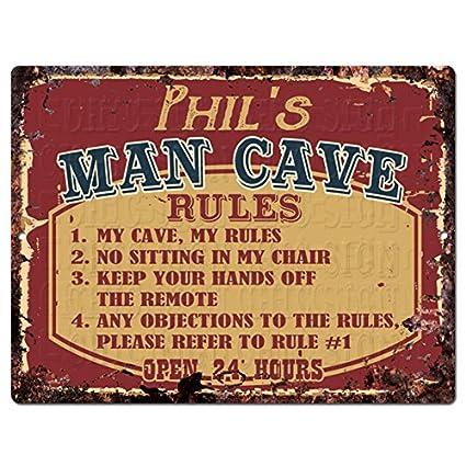 Amazon.com: PHIL'S MAN CAVE RULES Chic Tin Sign Vintage Look Retro on retro lighting kitchen, retro decor kitchen, retro furniture kitchen, retro coca cola kitchen, retro vintage kitchen,
