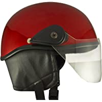 Racing Master Half Helmet (Red Glossy) (Extra Large)