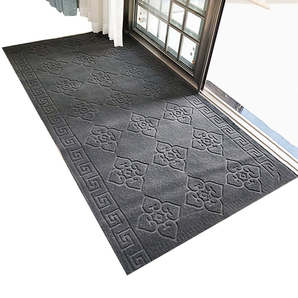 ZENGAI 廊下のカーペット ランナー ラグ 現代の カーペット ランナー敷物 ホール 廊下 通路 廊下 滑り止め キッチン 寝室 床 、 50サイズあり (色 : グレイ ぐれい, サイズ さいず : 1x7m) B07RDMVS59 グレイ ぐれい 1x7m