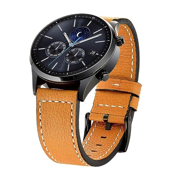 DBoer - Correa de Piel para Reloj Samsung Gear S3 Classic ...