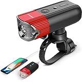 SHENKEY 自転車ライト モバイルバッテリー USB充電 IP65防水 2000mah 光感センサー+振動センサー 高輝度 耐久性(12ヶ月安心保証)