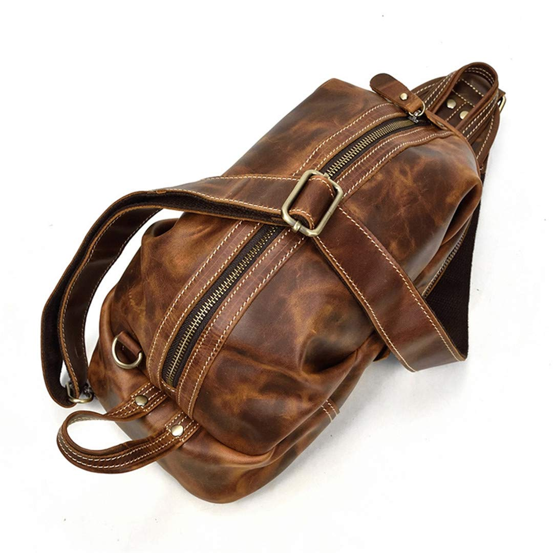 a8e7cc83a7db Amazon.com: Speciclny Motorcycle Bags Full Grain Cow Leather Men ...