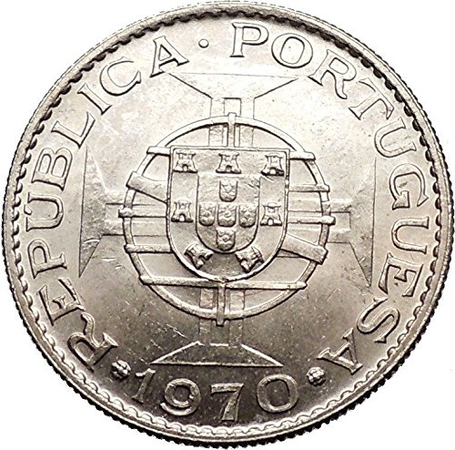 1970 TIMOR Asia Island Portugal Republic or Colony 10 Escudos Coin i55270