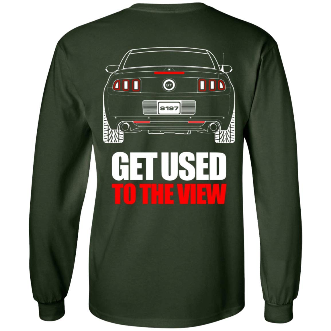 WheelSpinAddict Mens S197 Mustang GT 5.0 2013 2014 Long Sleeve T-Shirt
