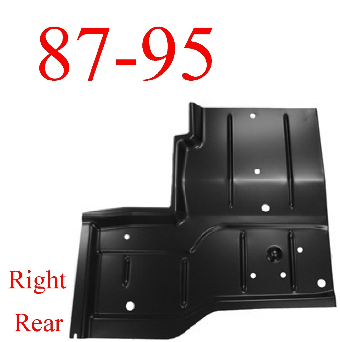 87-95 Jeep Wrangler YJ Right Rear Floor Pan AFTERMARKET
