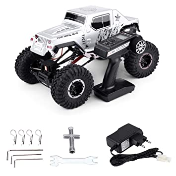 Dilwe RC Crawler Car, 1071-SJ 4 Ruedas 4WD Brushed Rocked ...