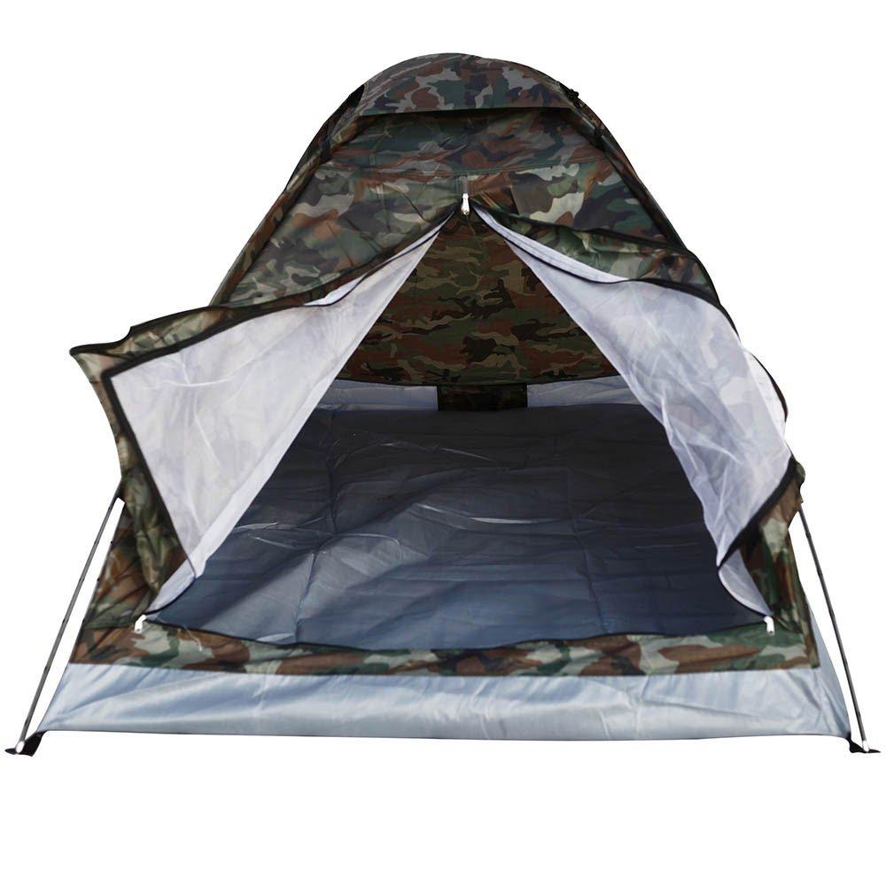 アウトドア PU1000mm レインフライ キャンプテント 2人用 シングルレイヤー ポータブル ポリエステル ビーチテント 迷彩   B01N68VL55