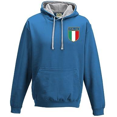 Print Me A Shirt Sweat à Capuche rétro pour Homme Motif Italie - Bleu - XXL fdf202d247c9