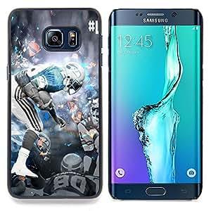 - 80 NFL Star - - Cubierta del caso de impacto con el patr??n Art Designs FOR Samsung Galaxy S6 Edge Plus Queen Pattern