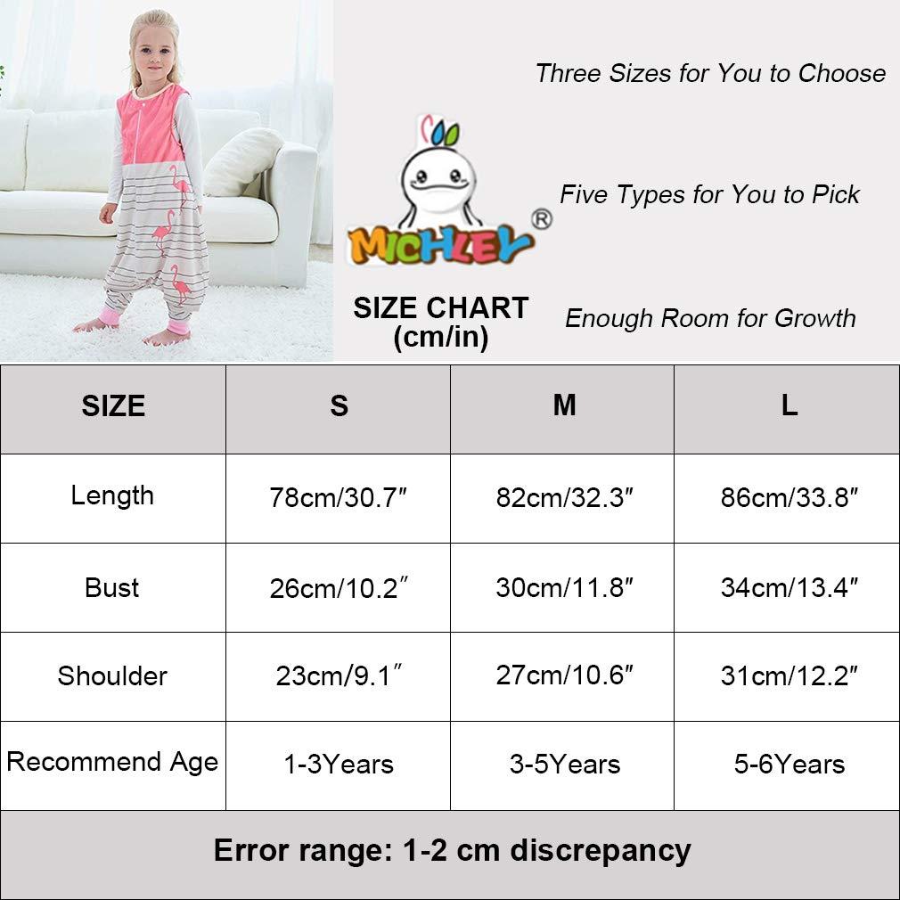 MICHLEY Bebe Hiver Pyjama Gigoteuse Bebe Garcon Vetement Enfant Naissance Cadeau pour 1-3 ans,Rose