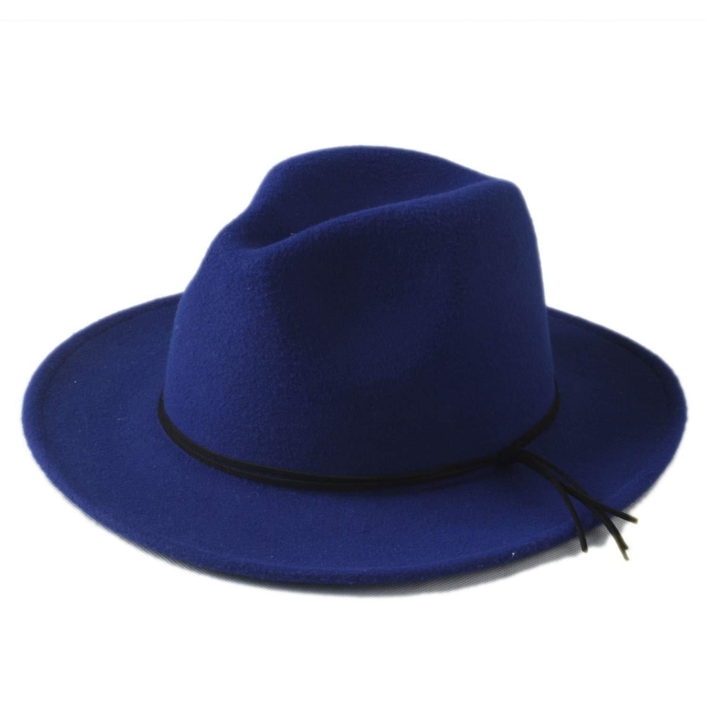 KKONION 100/% Wool Unisex Womens Mens Chapeu Feminino Fedora Hat for Laday Men Woolen Panama Cap