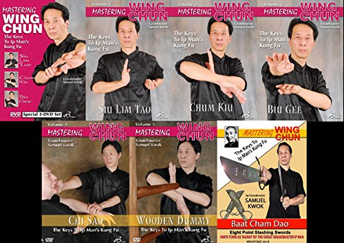 7 DVD SET Mastering Chinese Wing Chun the Keys Ip Man Kung Fu Europe mook jong, butterfly swords, pole by EM3