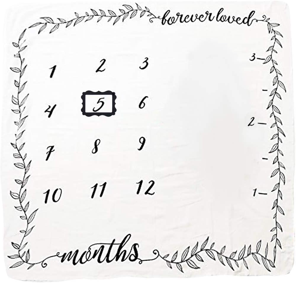JMITHA Couverture mensuelle pour b/éb/é avec photo de No/ël fond super doux pour nouveau-n/é