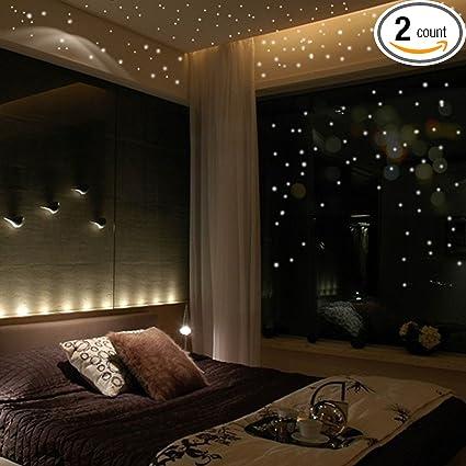 Luminous Wall Sticker Home Decor Glow In The Dark Star Moon Decal Baby Kid Room