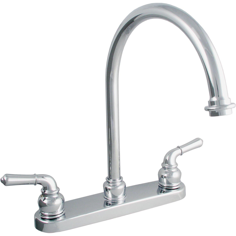 LDR 952 CP Exquisite Kitchen Faucet Gooseneck Spout Dual