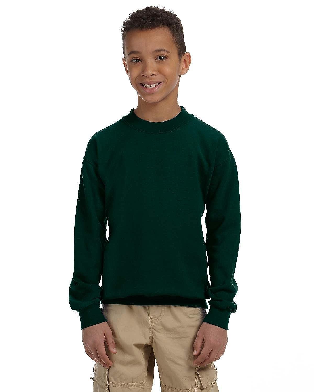 Gildan Heavy Blend Youth 8 oz 50//50 Fleece Crew Sweatshirt G180B