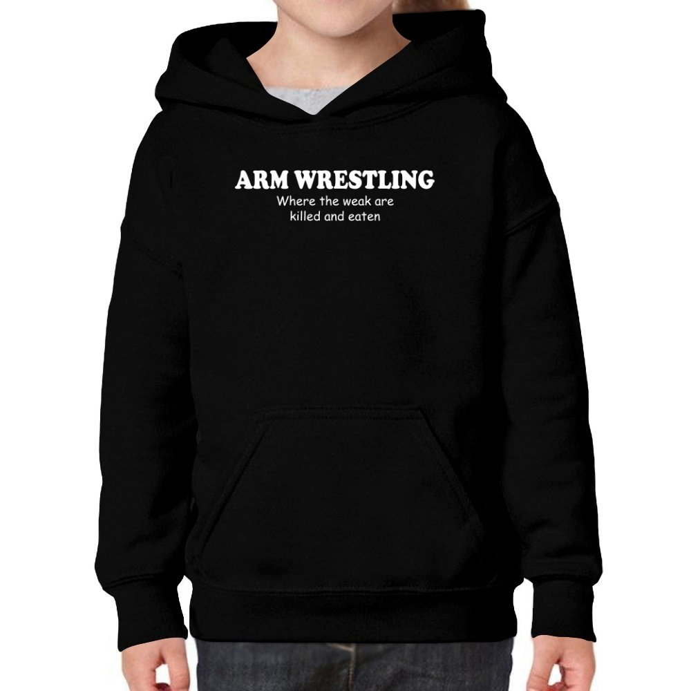 Teeburon Arm Wrestling Where The WEAK Are Killed and EATEN Girl Hoodie