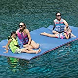 Superday Floating Water Mat Recreation Foam Pad Adults Kids Relax On Pool Lake&Ocean 12' x 6', Blue