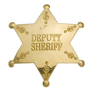 Deputy Sheriff Western Replica Badge - Brass
