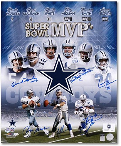 huge selection of 211a6 8fef6 Dallas Cowboys 6 Super Bowl MVPs Autographed 20