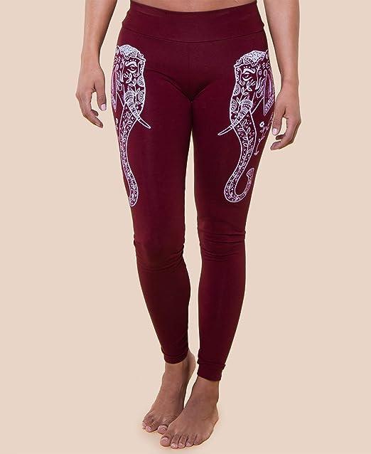 Soul Flower Leggings Women/'s Size M L XL Maroon New Blue Elephant Floral Organic