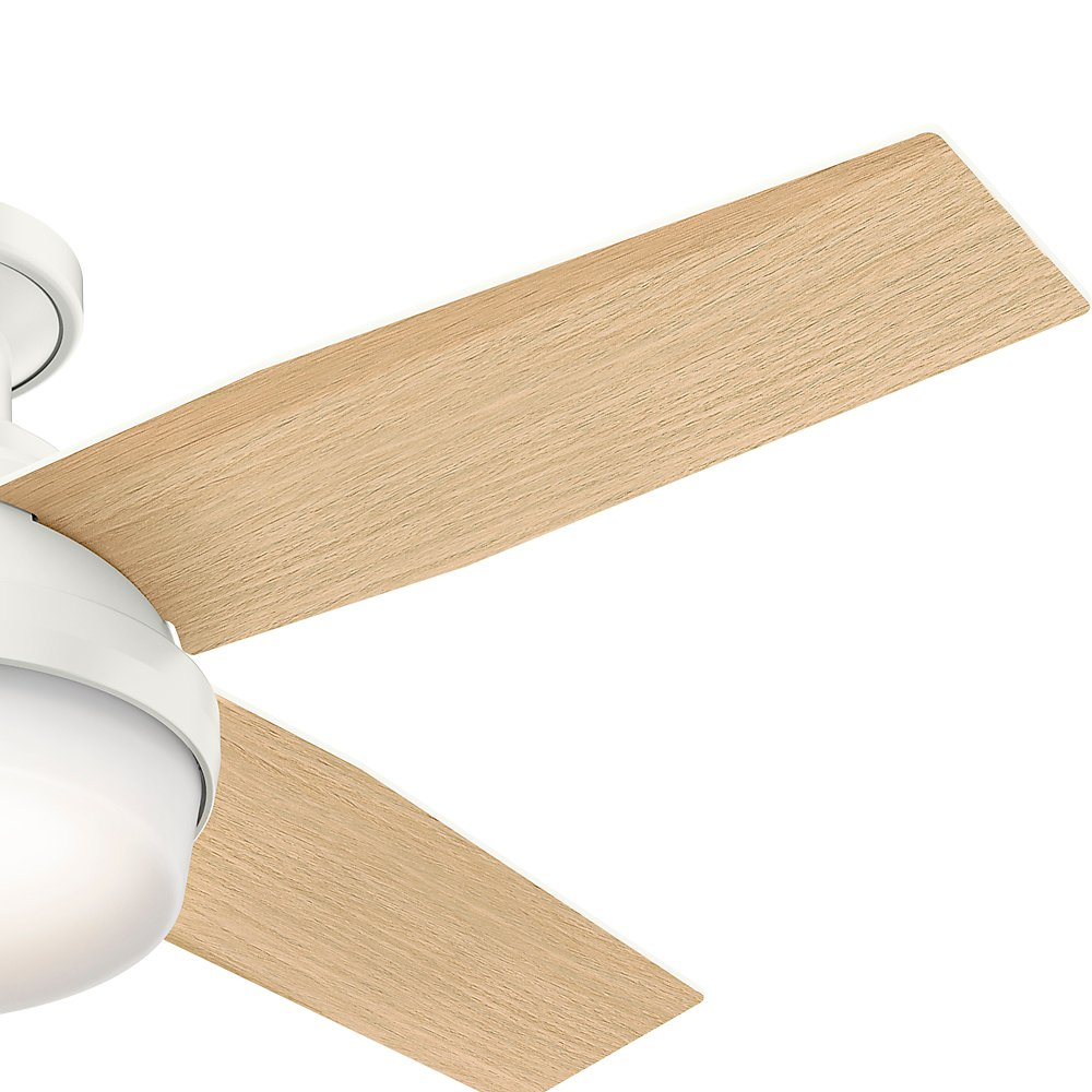 Hunter 59244 Dempsey Low Profile Fresh White Ceiling Fan With Light 42 Wiring Diagram Model Remote 44 Inch