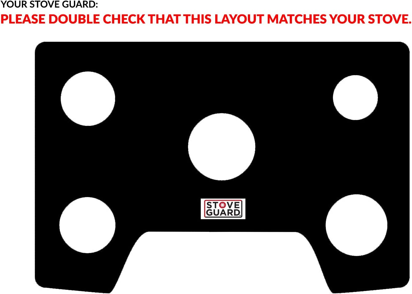 Easy Cleaning Stove Liners for LG Model LRG3194BD Customized Stove Top Protector for LG Gas Ranges LG Stove Protector Liners