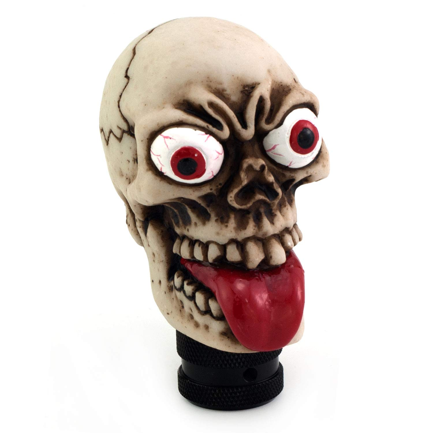 Thruifo Skull Gear Car Shift Knob, Funny Grimace Style MT Stick Shifter Head Fit Most Manual Automatic Vehicles