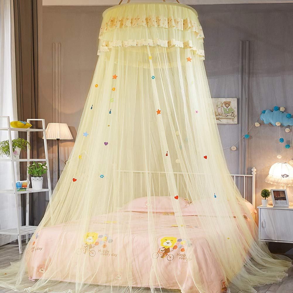 Ciel de Lit Moustiquaire Bébé Double Ado Fille Enfant Princesse
