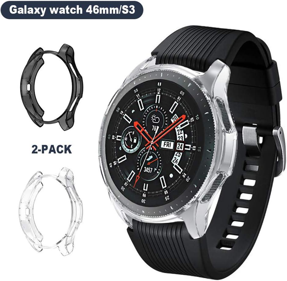 SPGUARD Compatible con Samsung Galaxy Watch 46MM Carcasa, [2 Unidades] TPU Suave Funda para Reloj Galaxy Watch 46MM: Amazon.es: Electrónica