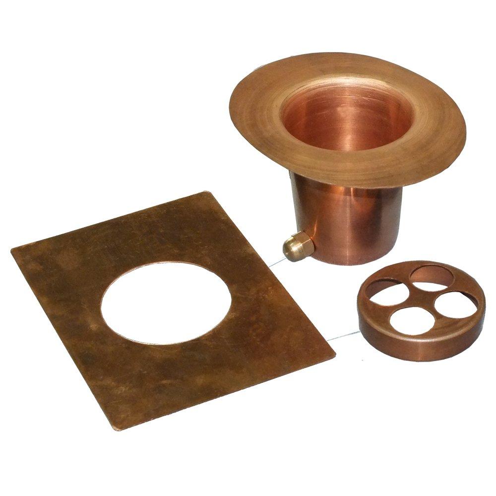 Monarch Rain Chains 12015 3-Piece Rain Chain Installation Kit Gutter Adapter Set, Pure Copper