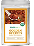 Healthworks Organic Golden Berries 1lb - Raw, Sun-Dried and All-Natural