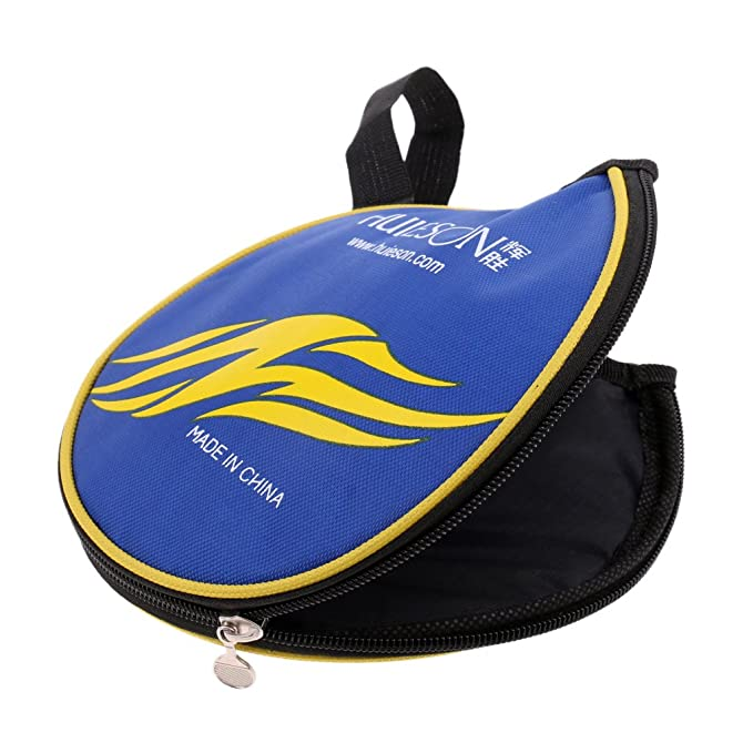 Tischtennisschläger Hülle Tischtennis Schutzhülle Tasche Blau Gelb