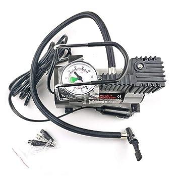 DoMoment 12 V Bomba de Inflado de Neumáticos Eléctricos Portátil Solo Cilindro Calibrador Compresor de Aire Universal para Camiones de Coche Neumáticos: ...