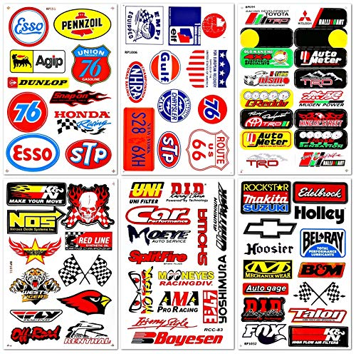 Motorsport Cars Nos Off-road Oil Nhra Drag Racing Lot 6 Graphic Vinyl Decals Stickers - Decal Race Drag