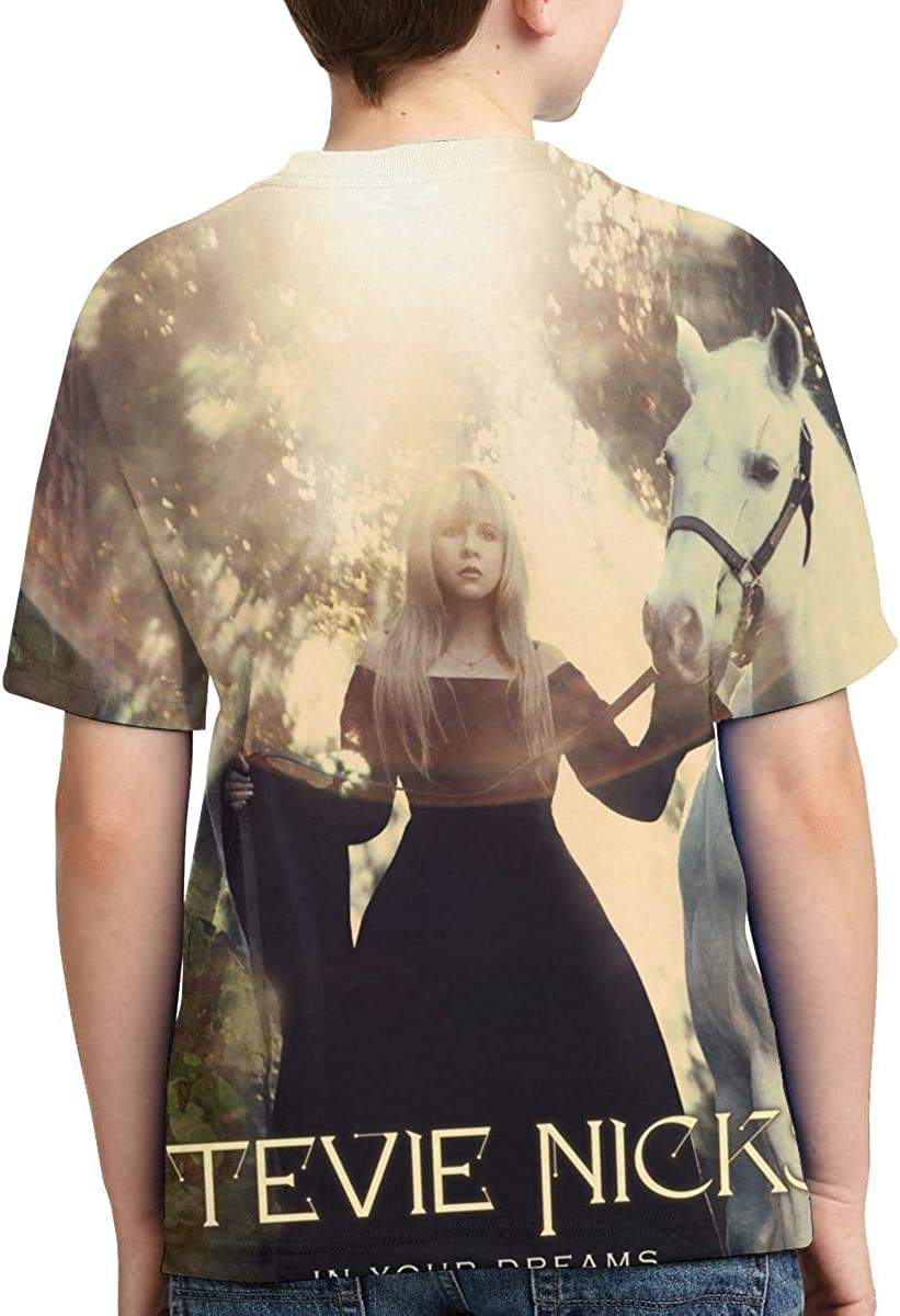 Stevie Nicks in Your Dreams Boys Girls 3D Print Short Sleeve Outdoor T-Shirt Tee Black