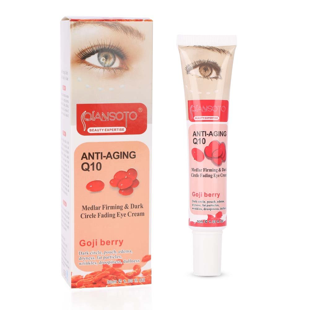 Natural Goji Berry Anti-Age Moisturizing Eye Cream Treatment for Dark Circles, Puffiness, Wrinkles and eye Bags