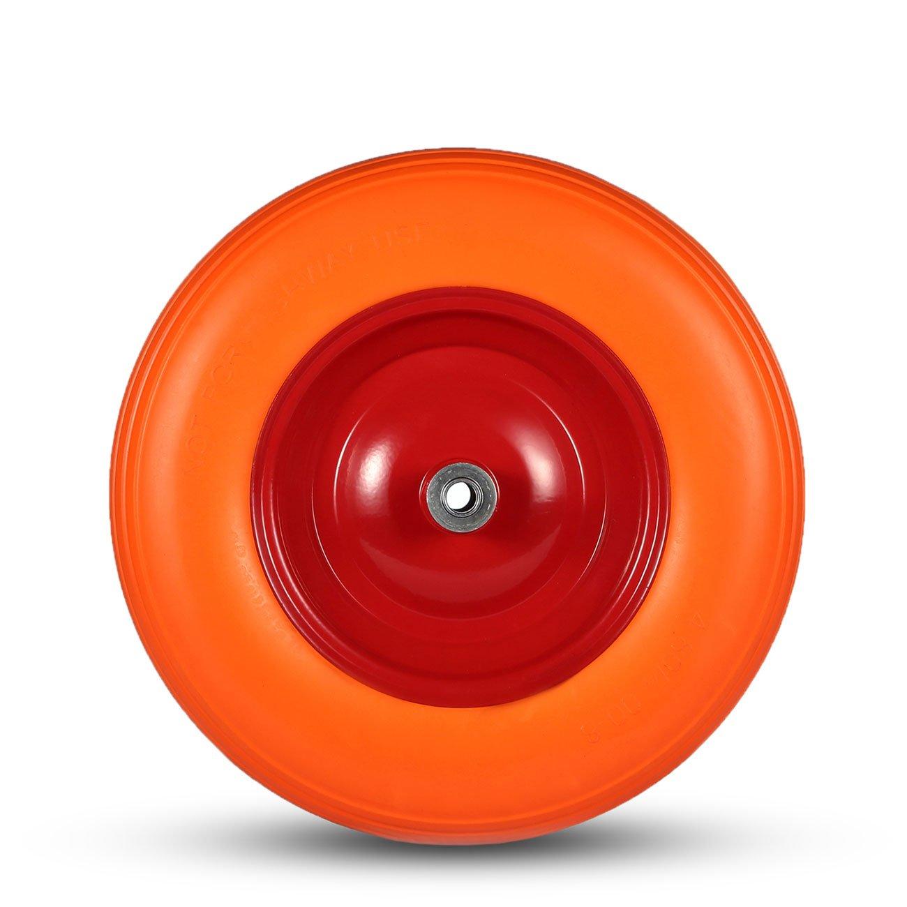 Karren Achse 12 mm Schubkarren Größe 13 cm Roller Rad Blech mit Vollgummi