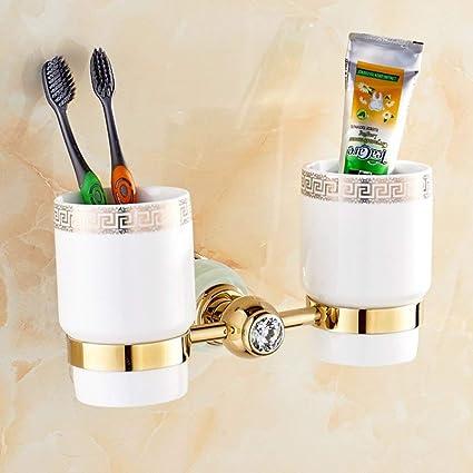 NAERFB Cepillo de Copa de Jade/Porta Cepillo de Dientes/Porta Vasos/Cepillo