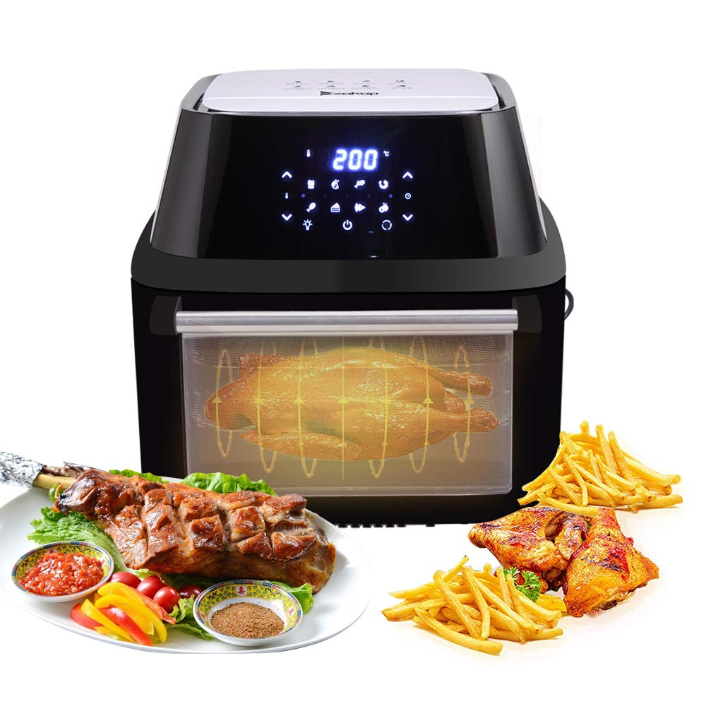 16.91QT Digital Air Fryer Oven, Rotisserie, Dehydrator, Countertop Oven, 1800W Electric Air Fryer 8 Cooking Presets Oilless Cooker, Extraction Bracket, ETL Listed (A)