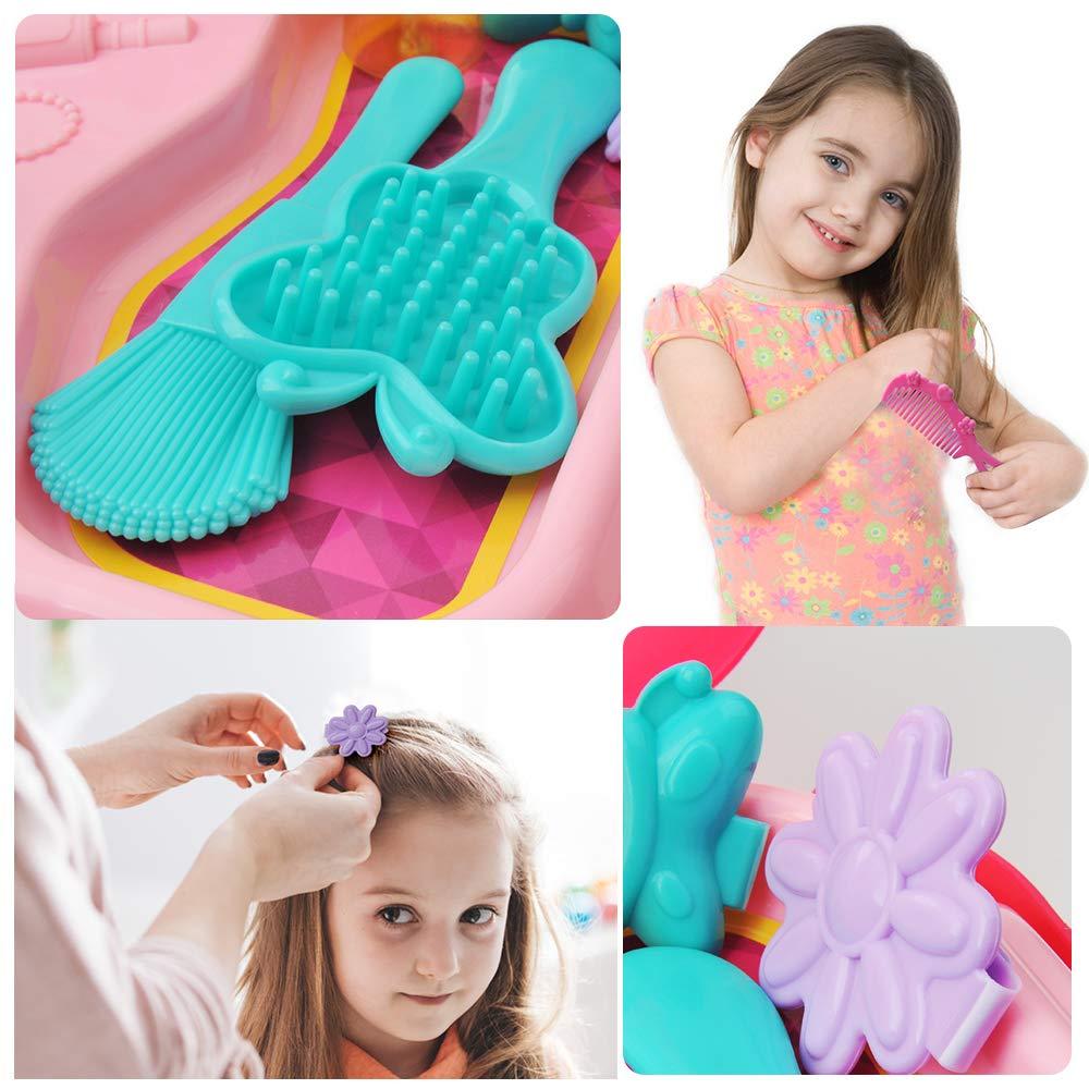 GizmoVine Jouet Fille 3 Ans Jouets Make Up Kit Pretend Princesse Set Jouets avec Sac /à Dos 16pcs pour Enfants Fille 2 3 Ans