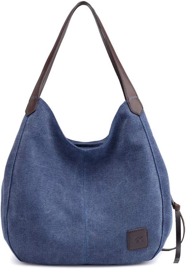 Azul Bolso de bandolera Bolsa de cuerpo cruzada Bolsa de hombro Bolsa de ocio Bolso de mano de la Mujer MINGZE Lona Bolso de mano