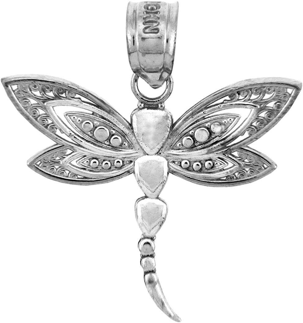 925 Sterling Silver Dragonfly Charm Made in USA