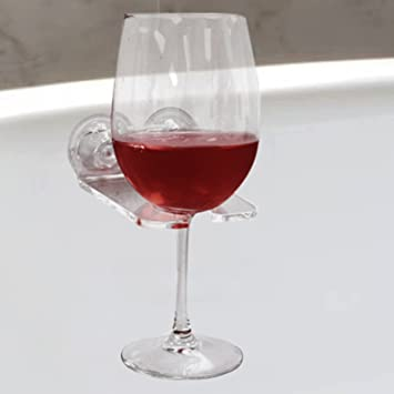 Bathtub Wine Glass Cupholder. Caddy Shower U0026 Relax Bath With Powerful  Strong Suction Cups ,
