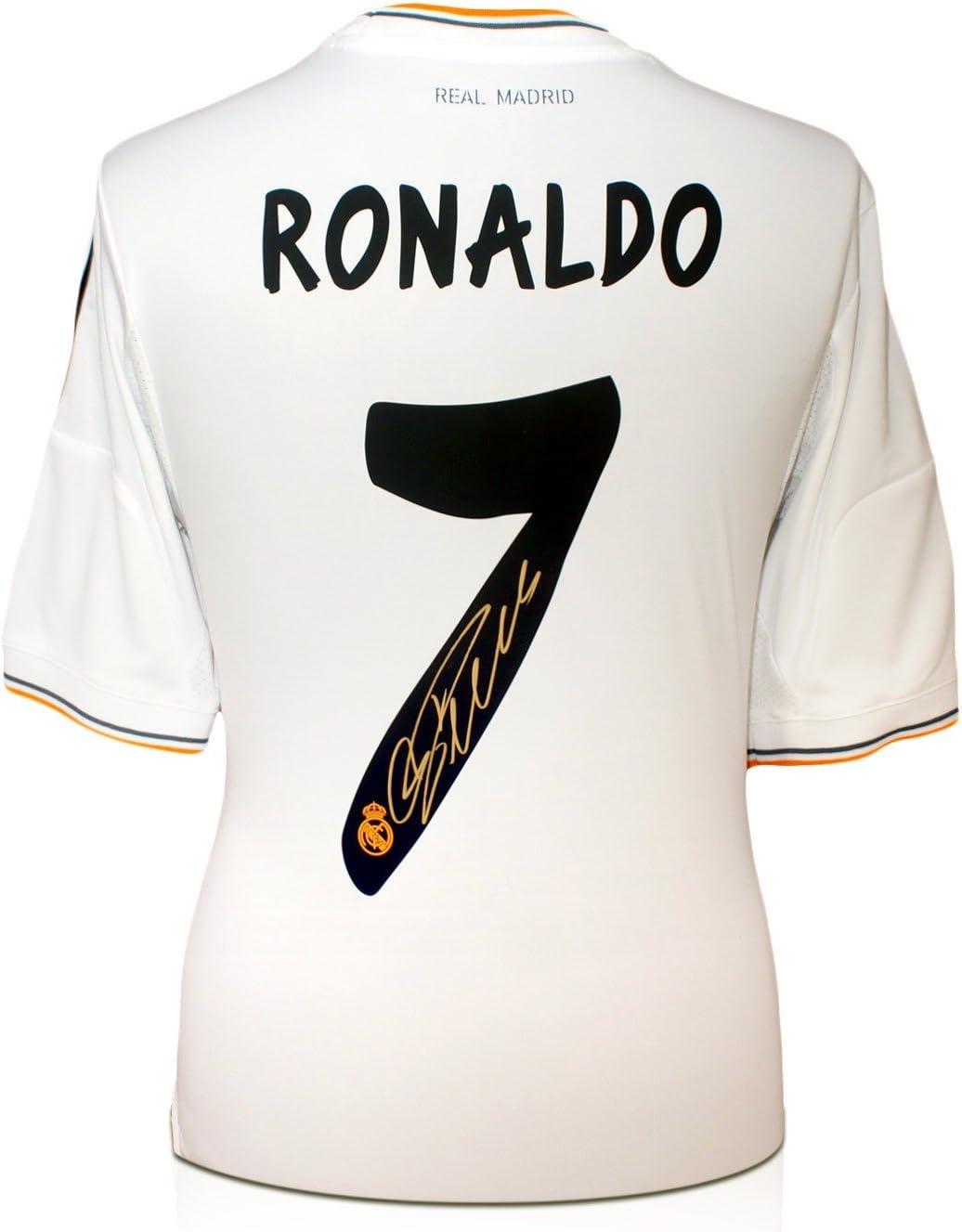 Cristiano Ronaldo Signed Real Madrid Football Shirt Amazon Co Uk Sports Outdoors
